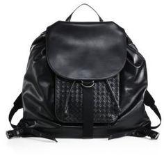 57072751dd84 Bottega Veneta Leather Drawstring Backpack Leather Backpack For Men