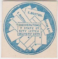 Boston, MASS. Cheever & Towle Delivery Stamp.