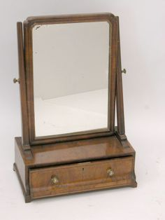 Vanity Mirror And Base With Single Drawer Kimberly Barlowe  C B Public Domain  C B