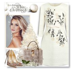 """Christmas White..."" by desert-belle ❤ liked on Polyvore featuring Giambattista Valli, Whiteley, Dolce&Gabbana, Casadei, valentino, longsleeve, polyvoreeditorial and GiambatistaValli"