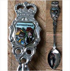 "Schwarzwald (Black Forest) Souvenir Teaspoon Tea Spoon 4-5/8"" long on eBid Canada $6.00"