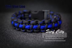 Thin Red Line / Thin Blue Line Paracord by SurfCityParacord