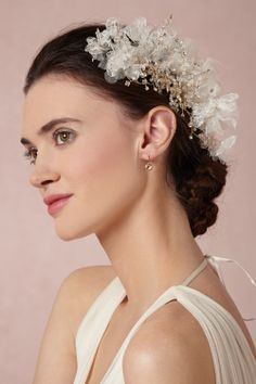 Lace Petal Comb from BHLDN - $350 Twigs & Honey headpiece for BHLDN