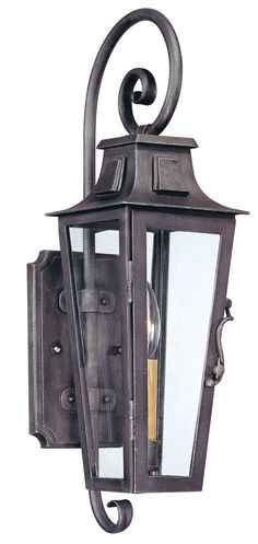 Troy-CSL Lighting B2961 Parisian Square 1 Light 19 inch Aged Pewter Outdoor Wall Lantern in Incandescent
