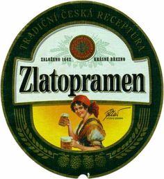 """Czech beer """"Zlatopramen"""" from Krásné Březno (North Bohemia), Czechia Czech Beer, Epic Of Gilgamesh, Beer Brands, Beer Stein, Beer Labels, Wine And Beer, Czech Republic, Brewery, Root Beer"""