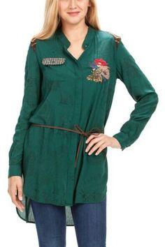 100% viscose, comfortable fabric, Desigual Ovan shirt, 47C2215