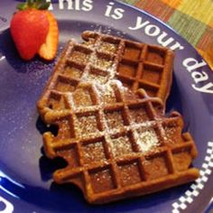 #recipe #food #cooking Gingerbread Waffles with Hot Chocolate Sauce