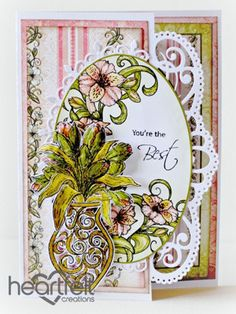 Heartfelt Creations | You Are The Best Lily Vase Card