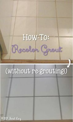 Lovely How To: Recolor Grout (Without Regrouting