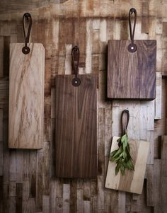 for the cook: leather strap cutting boards. from $60.
