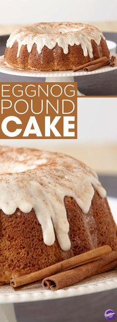 Eggnog Pound Cake Recipe - Make a delicious eggnog pound cake that's perfect for the holiday season.