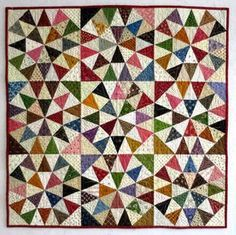 Grandma's Surprise kaleidoscope quilt by Joyce Gieszler - pattern in her book Then and Now Quilts (2014)