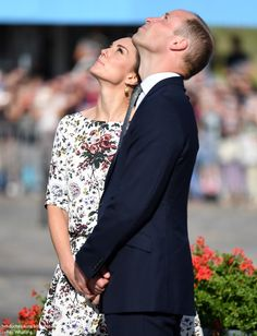 Prince William, Duke of Cambridge and Catherine, Duchess of Cambridge are seen on their way to the Solidarity Monument during an official visit to Poland and Germany on July 18, 2017 in Gdansk, Poland.