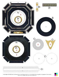 Jack Sparrow Compass Paper Craft