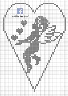 Schematy szydełkowych serduszek - Her Crochet Crochet Patterns Filet, Crochet Bookmark Pattern, Crochet Bookmarks, Crochet Art, Thread Crochet, Crochet Doilies, Cross Stitch Fabric, Cross Stitch Heart, Cross Stitch Embroidery