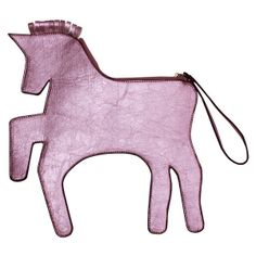 Unicorn Clutch Bag Pink (500 HKD) found on Polyvore