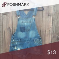 DENIM shorts overalls 🌹 Distressed denim. Perfect for summer 🌴☀️ Highway Jeans Shorts