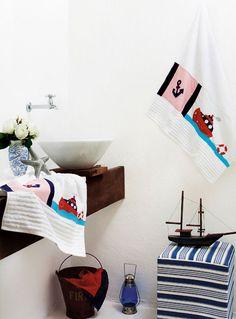 Toalha de banho com patch apliquê / DIY, Craft, Upcycle