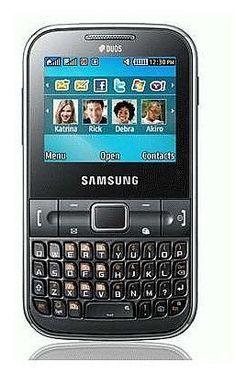 Samsung C3222 Ch@t Dual SIM Unlocked GSM Phone with QWERTY Keypad, 1.3 MP Camera, FM Radio and Bluetooth - No Warranty - Black by Samsung, http://www.amazon.com/dp/B005EHFC84/ref=cm_sw_r_pi_dp_bZt0qb06NKCT1