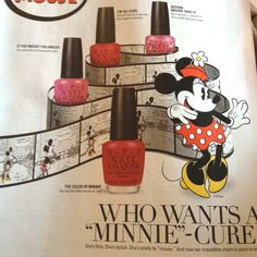 "Vintage Minnie Mouse ""Minnie""-cures OPI"
