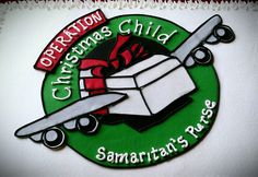 Operation Christmas Child Packing Party Cake