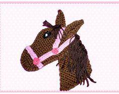 Pferd Häkelapplikation