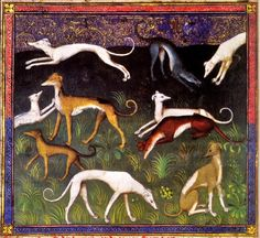 It's About Time: Dog Days of Summer - Hunting Dogs from Illuminated Manuscripts