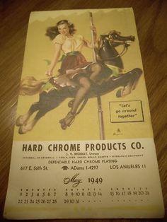 Vintage GIL ELVGREN 1949 Pin Up Calendar/Note Pad- Brown and Bigelow $15.00