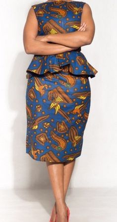 Full African print top and skirt by NalaCollection20 on Etsy