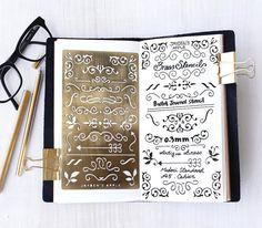 Planner Stencil, Bullet Journal Stencil, Ornament Stencil - fits A5 journal…