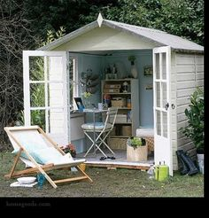 Artist's studio in the backyard shed.