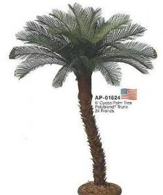 6' Artificial Outdoor Cycas Palm Tree - UV Protected.