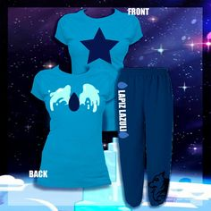 Steven Universe-Lapiz Lazuli Pajama Set PRE-ORDER ($30) ❤ liked on Polyvore featuring intimates, sleepwear, pajamas and lazuli