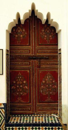 Painted door in Marakesh