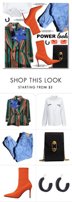 """""""GIRL POWER: Power Look"""" by paculi ❤ liked on Polyvore featuring Delpozo, Levi's, MANGO, girlpower and powerlook"""
