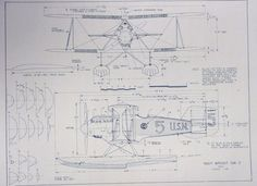Charles lindbergs spirit of st louis blueprint would be cute in wonderful 11 x 17 blueprint of the navy wright nw 2 airplane made the old fashioned way with ammonia activated paper on a diazit blueprint machine malvernweather Images