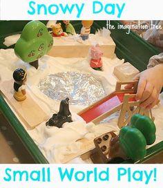 shaving cream snowy day small world play