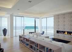 nice living room on the beach