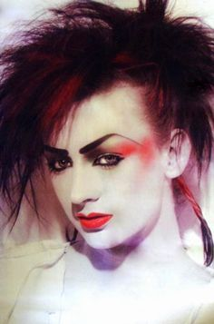 Boy George in his Lieutenant Lush phase with BOW WOW WOW, wearing a ...