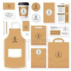 Coffee shop corporate identity template design set with coffee shop logo and coffee bean. Coffee Shop Signs, Coffee Shop Menu, Coffee Shop Business, Coffee Cafe, Coffee Barista, Coffee Shops, Coffee Lovers, Hot Coffee, Coffee Shop Branding