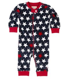 Hatley Velour Romper with Star Print