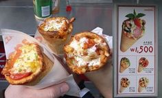 Pizza in a cone found in Bahrain's City Centre