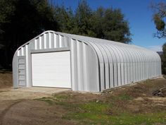 Steel buildings and metal buildings pre-engineered for building kit projects such as steel garages, RV Storage, Quonset Huts, Steel Barns, Carports. Prefab Metal Garage, Steel Garage Buildings, Shop Buildings, Quonset Hut Homes, Prefab Homes, Building A Garage, Car Garage, 8x12 Shed Plans, Hut House
