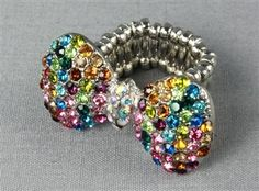 Multicolor  Bow Ring