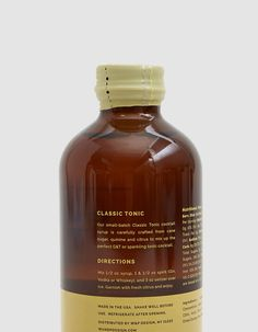 Buy the W&P Tonic Cocktail Syrup at Need Supply Co. Dried Orange Peel, Dried Oranges, Cocktail Syrups, Cocktails, Tonic Syrup, Cocktail Making, Trans Fat, Gin And Tonic, Natural Flavors