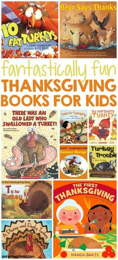 Thanksgiving is quickly approaching and it& a time to enjoy food and give thanks. It's also a time to read these great Thanksgiving books for kids! Thanksgiving Stories, Thanksgiving Preschool, Thanksgiving Parties, Canadian Thanksgiving, Thanksgiving Prayer, Thanksgiving Appetizers, Thanksgiving Outfit, Thanksgiving Birthday, Thanksgiving Decorations