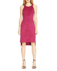 Halston Heritage Faux Suede Dress