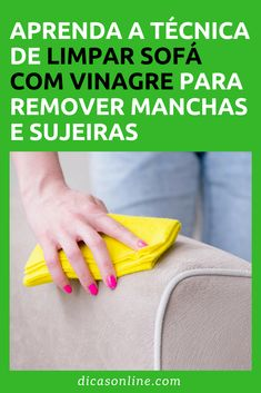 Limpar sofá com vinagre Diy Cleaning Products, Cleaning Hacks, Apartment Cleaning, Works With Alexa, Home Hacks, Clean House, Interior Design Living Room, Plastic Cutting Board, Helpful Hints