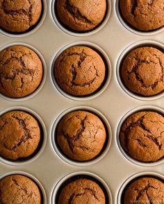 One Bowl Spiced Gingerbread Muffins - Fork Knife Swoon Zucchini Muffins, Muffins Blueberry, Brunch Recipes, Sweet Recipes, Dessert Recipes, Breakfast Recipes, Breakfast Pastries, Cheap Recipes, Breakfast Muffins