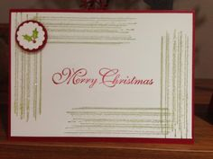 A simple and sparkly Gorgeous Grunge christmas card - Oakfield Crafts